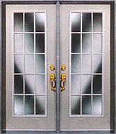 French patio garden door with grilles