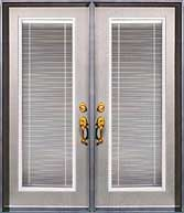 French Garden Patio Door with Miniblinds