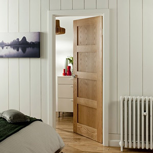 Fir Four Panel Shaker Door