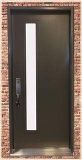 Mid Century Modern Front Door with Skinny glass