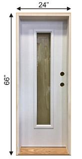 Custom steel door with skinny glass