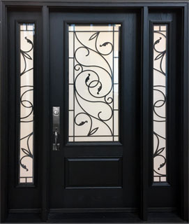 Fusion Brela Wrought Iron front door