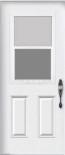 Venting door-lite with screen