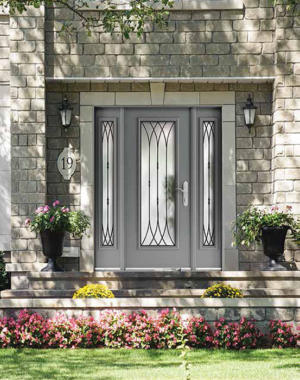 "Fusion ""Corsica"" wrought iron front door"