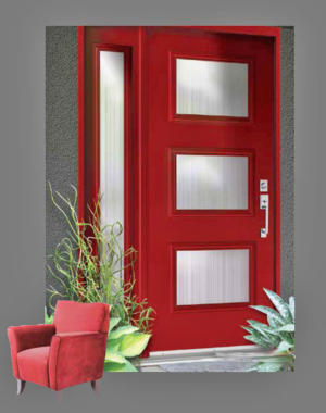 Fusion-Superline Mid-Century Modern front door