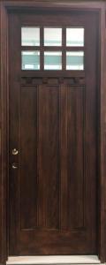 Craftsman Style Mahogany Entry Door 8 ft.