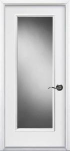 Full glass pre-hung steel door