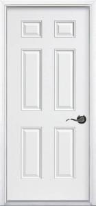 6-panel Prehung Steel Door