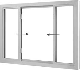 End Vent Sliding Window