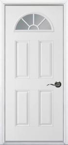 Fan-Lite prehung steel door