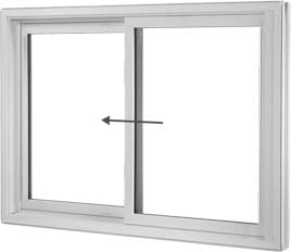 Side sliding vinyl window