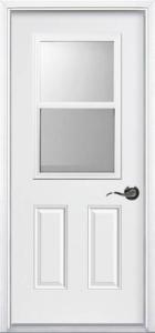 Venting Glass Pre-hung Steel Door