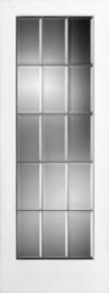 French Door 15-Lite Clear Beveled Glass