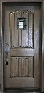 Medieval Design Fiberglass Door with Speakeasy Window