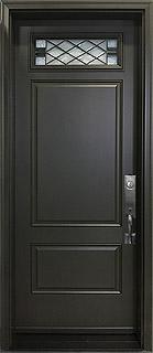Novatech Richmond Fiberglass Door with Gothic Design Glass