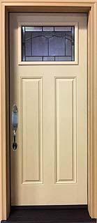 "Craftsman Design Fiberglass door with ODL ""Topaz"" Glass"