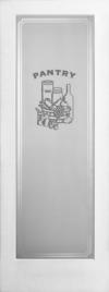 French Door Pantry Etched
