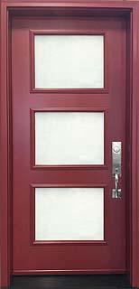 "Novatech ""Sydney"" Steel Door with Acid Etched Glass"