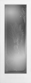 French Door Wheat Design Pressed Glass