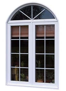 Casement window with colonial grilles