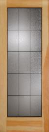 French Door 15-Lite Gluechip Patina