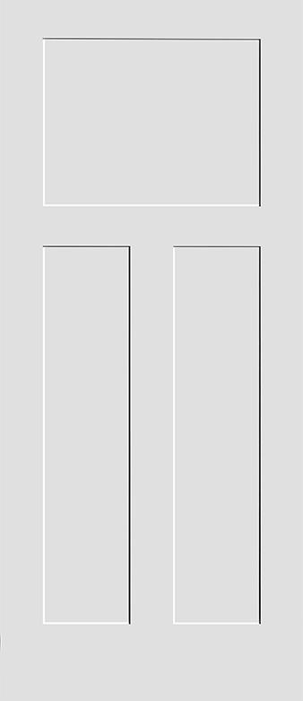 Interior doors shaker 3 panel craftsman