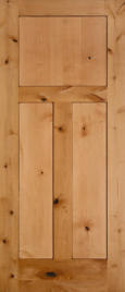 Interior doors Shaker 3-Panel Craftsman Knotty Alder