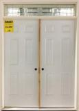 Double Entry Door with Transom