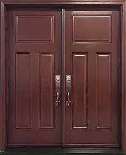 Craftsman Fiberglass Double Entry Door
