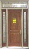 Fiberglass door with two sidelites and transom