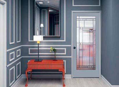 Harlow French Door installed in vestibule