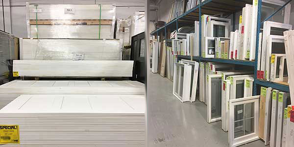 Surplus windows and doors at cheap prices
