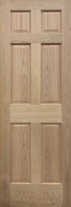 6-panel colonial interior door red oak