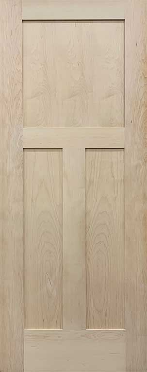shaker 3 panel craftsman maple