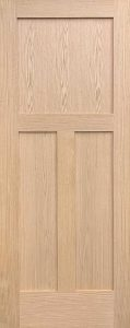 shaker interior door oak craftsman design
