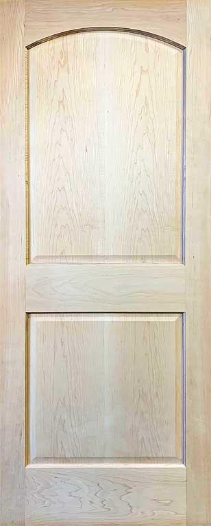 2-Panel Arch Top Door Maple