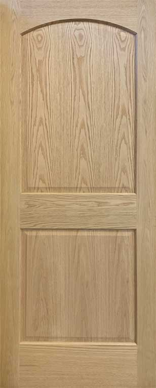 2-Panel Arch Top Door Red Oak