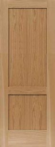 2 panel shaker door red oak