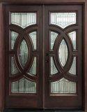 mahogany double front door 8 ft. tall