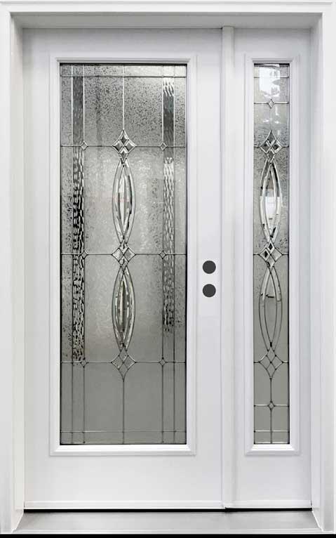 front door with operating sidelite Novatech Evangeline