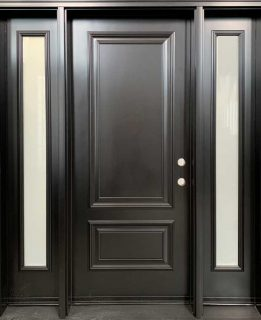 front entrance door with executive panels frosted glass