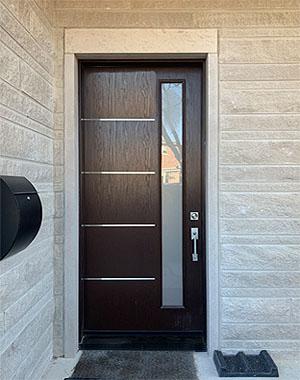 Fiberglass Modern Exterior Door