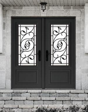 Double Entry Door Brela Wrought Iron